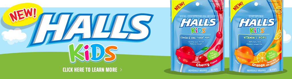 NEW! HALLS KIDS - Click to Learn More >